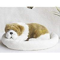 Signstek 仿真**斗牛犬玩具宠物带羊毛床