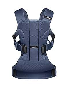 瑞典 BABYBJORN BABY Carrier One 婴儿背袋(丹宁灰 棉混纺面料 新生即可使用)(新生至15kg) (新老包装随机发货)