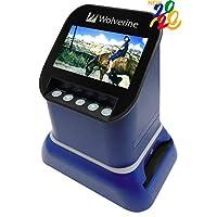 Wolverine F2D 土星数字胶片和滑动扫描仪 - 将120中格式,127片,微纤维,35毫米负片和幻灯片转换为数字JPEG - 大4.3英寸LCD w/HDMI输出(蓝色)