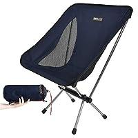 BOBVILLAGE 超轻折叠野营椅,Cordura 面料,便携式紧凑草坪凳,适用于海滩旅游远足野餐节和所有户外活动