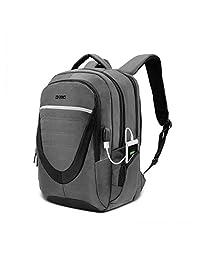 Amzbag 商务旅行背包 15.6 英寸笔记本电脑包 防水 USB 充电端口 学院书包 日包 男式/女式/鞋/适合 15.6 英寸笔记本电脑 15.6 inches