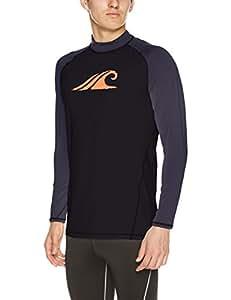 [特斯拉] 男士 泳衣 *衣 [隔离紫外线 UPF50+・吸汗速干] 外套★1码羽绒 MSR12 黑色 日本 2XL (日本サイズ2L相当)