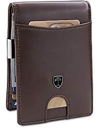 "TRAVANDO 钱夹钱包 ""RIO"" - 男式钱包超薄前口袋 RFID 屏蔽卡包极简主义迷你折叠礼品盒"