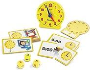 Learning Resources 時間游戲套裝,模擬時鐘,觸覺學習,41件,5歲以上