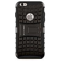 BUDDIBOX 巴迪盒iPhone 6s手机壳,自带支架的超薄吸震耐用手机保护壳,适合苹果手机iPhone 6和6s(黑色)