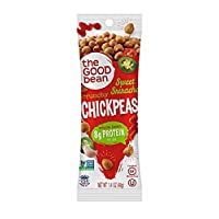 The Good Bean Chickpea Snacks Grab & Go, Sweet Sriracha, Gluten and Nut Free, 10 Count, 1.4 Ounce