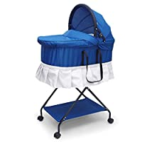 牧川宝宝摇篮床bb床便携式婴儿蚊帐床可折叠新生儿婴儿床中床提篮 (蓝色+凉席)
