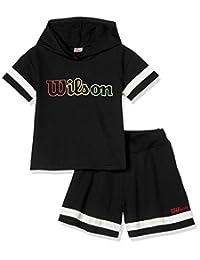 WJ6170 女童装 上下套装 连帽卫衣 裙子 WJ6170 女孩