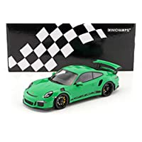 Minichamps - 保时捷 911/991 GT3 RS 2015 收藏家型号 153066228,绿色/黑色