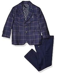 Isaac Mizrahi 男孩 2 件套撞色格子西装