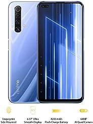 "realme X50 5G - 冰银,5G Ready,6GB+128GB,6.57"" LCD 显示屏,64MP 四摄像头,SIM Free智能手机,英国插头和英国保修服务RMX214"