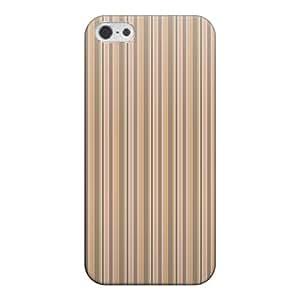 CaseMarket apple iPhone 5s (4英寸) (iPhone5s) 聚碳酸酯 透明硬壳 [ 条纹 图案 - 米色 ]