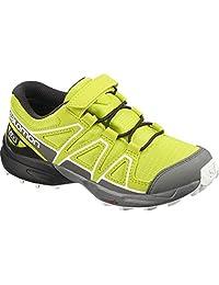 Salomon 萨洛蒙 儿童越野跑鞋 SPEEDCROSS CSWP K Gelb Evening Primrose Quiet Shade Black 28 EU