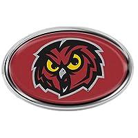 Temple Owls 高级汽车徽章贴花,镀铬金属,带半球形图形
