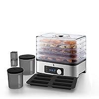 WMF 福騰寶 KüCHENminis 食品自動烘干機 10 件套 5個烘干網格 野營 儲物盒 硅膠谷物棒模具,總烘干面積 2362.5 平方厘米,溫度 30 至 70° C 可調節,長達 24 小時的烘干時間