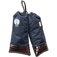 Mizuno Golf 美津浓高尔夫 鞋套 5LJS201100 高尔夫 鞋套 沃尔萨沃多拉 男款 21×40cm 1/2双装 5LJS201100 *蓝 尺寸:21×40cm