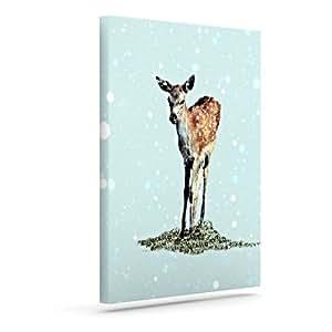 """Kess InHouse Monika Strigel""""Fawn""""户外帆布墙壁艺术 20"""" x 24"""" MS2011AAC04"""