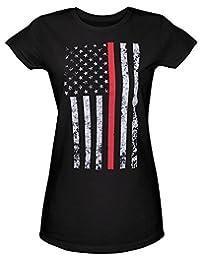 Rothco 女式细红线长款 T 恤
