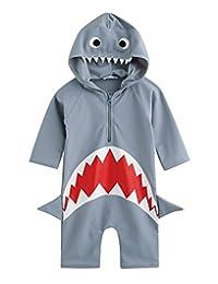 Vaenait 婴儿 0-24M 婴儿游泳衣婴儿男孩*衣泳衣 Real Jaws Baby