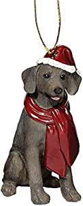 Design Toscano Weimaraner Holiday Dog Ornament Sculpture, Full Color