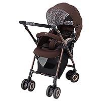 Aprica(阿普丽佳)高景观婴儿车 SORARIA 棕色BR 双面型 【3年保修+ 搭载自动4轮机能】92777
