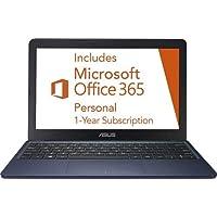 华硕 Vivobook 超薄轻型 11.6 英寸高清笔记本电脑,Intel Celeron N4000 高达 2.6GHz、32GB eMMC 存储、网络摄像头、802.11AC Wi-Fi、HDMI、USB-C、Windows 10TBCL432B  4GB
