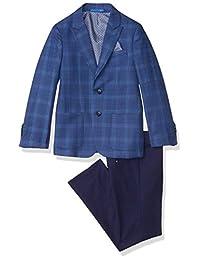 Isaac Mizrahi 男孩 2 件套大号格子西装