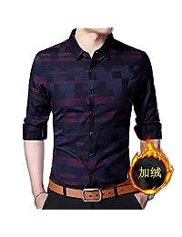 罗蒙100% 纯棉男士长袖衬衣衬衫