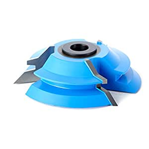 Amana 工具 998 硬质合金尖头 3 翼锁斜角 45 度角 x 3-3/4 深 x 1 CH x 1/2 和 3/4 孔刨削器