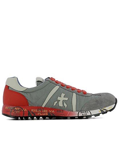 PREMIATA PREMIATA 男人 LUCY2197 灰色/红色 皮革 运动鞋 / 意大利直邮【亚马逊海外卖家】