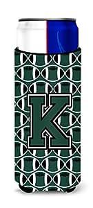 字母 L 橄榄绿和白色*瓶饮料保温器 Hugger CJ1071-LLITERK