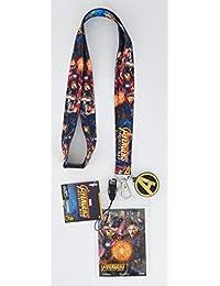 Marvel 复仇者无限战争挂绳,带屏幕清洁吊坠