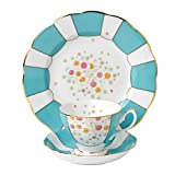 "Royal Albert 3 Piece 100 Years 1930 Teacup, Saucer & Plate Set, 8"", Multicolor"