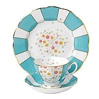皇家阿尔伯特的3件100YEARS 1930茶杯碟形 & 板套装27.94cm 多色