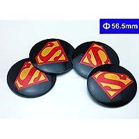 BENZEE 4 件 D142 56.5 毫米汽车徽章贴纸 轮毂盖 中心盖子 超人英雄