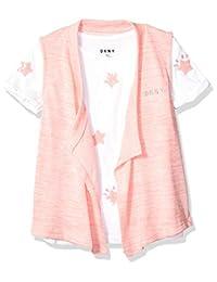 DKNY 女童 2 件套短袖 T 恤和背心套装