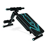 索维尔 新款折叠仰卧板 家用腹肌板健腹板 豪华升级多功能仰卧起坐板 SW-2014