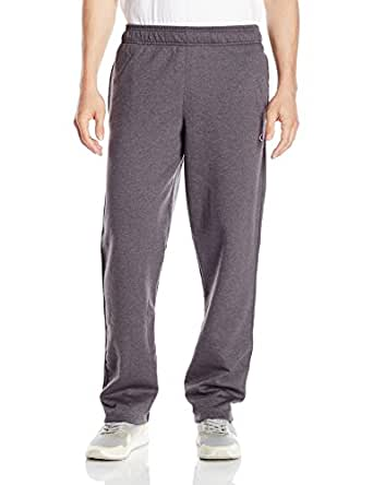 Champion Men's Powerblend Open Bottom Fleece Pant, Granite Heather, 2XL