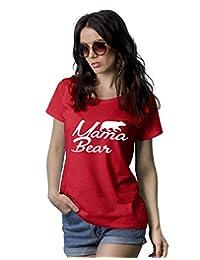 图案 T 恤女式趣味 Mama Bear Feminist 成人女式神奇 T 恤