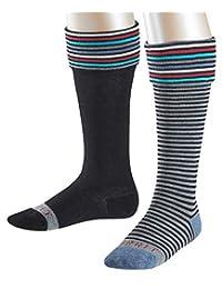 ESPRIT 男孩及膝袜条纹标志,2件装