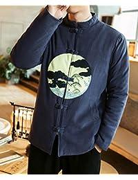 Aboselon 艾伯森朗 冬装男士加厚加棉外套 盘扣刺绣棉衣男装上衣 XJM91