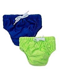 Kawaii Baby 可重复使用游泳尿布弹性网层男孩和女孩两件装