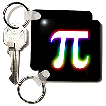kc_24323 Houk Digital Design Symbols - Pi Symbol glowing on black background - Key Chains