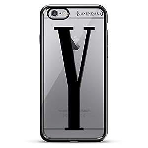 luxendary 黑色首字母 Y3设计镀铬系列保护套适用于 iphone 6/ 6S Plus–钛黑色