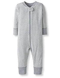 Hanna Andersson 月亮和后背婴儿/幼儿连体*棉无脚睡衣
