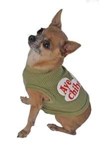 Doggie 背心,Aye Chihuahua,绿色 绿色 XS