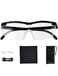 基础款标准放大镜 1.6倍 眼镜 可用于上面使用! 悬挂放大镜 (软壳 & 交叉 & 附带不易滑动调节鼻梁) 31611