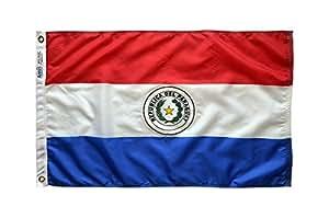 Annin Flagmakers 尼龙太阳镜 Nyl-Glo 巴拉圭旗帜 3x5' 196612