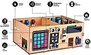 OSOYOO Arduino MEGA2560 IoT 学习智能家居套件 用于学习物联网,建筑动力学,电气工程,编码方法的STEM套件 儿童教育编码