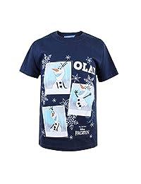 Disney 女孩《冰雪奇缘》奥拉夫照片 T 恤